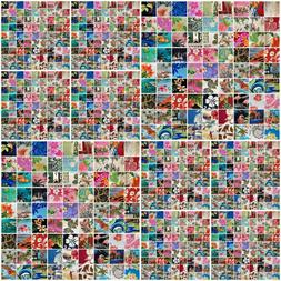 100pcs Colorful 5X5 Inch Hawaii pattern Precut Cotton Fabric