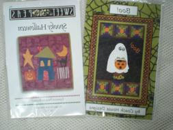 2 Halloween Themed Wall Quilt Patterns, Unused
