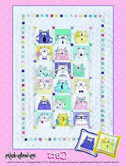 Amy Bradley Designs ABD288 Cats Quilt Pattern, Multicolored