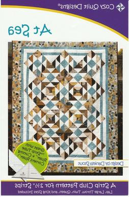 At Sea Quilt Pattern by Cozy Quilt Designs 5 Sizes Lap, Thro