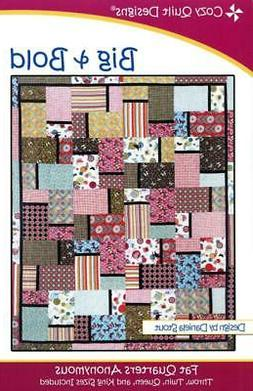 Big & Bold quilt pattern, Fat Quarters Anonymous from Cozy Q
