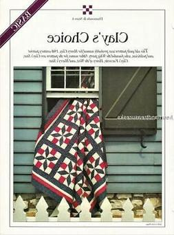 Clay's Choice  Best Loved Quilt Pattern w/ Flexible Template