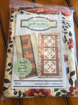 Complete Quilt kit - November Table Runners by Cotton Way.