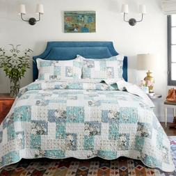 country chic printed full patchwork pattern printed