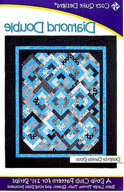 """Diamond Double, a 2 1/2"""" Strip Pattern from Cozy Quilt Desig"""
