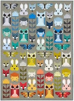fancy forest animal quilt pattern