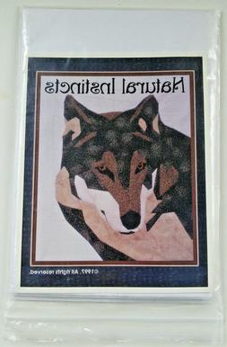 "Natural Instincts ""Grey Wolf"" Quilt Pattern"