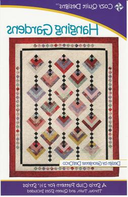 """HANGING GARDENS Quilt Pattern Use Jelly Roll 2.5"""" Strips! 3"""