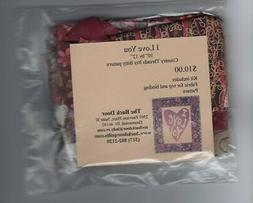 I Love You Quilt Kit, Country Threads Itty Bitty Pattern &Fa