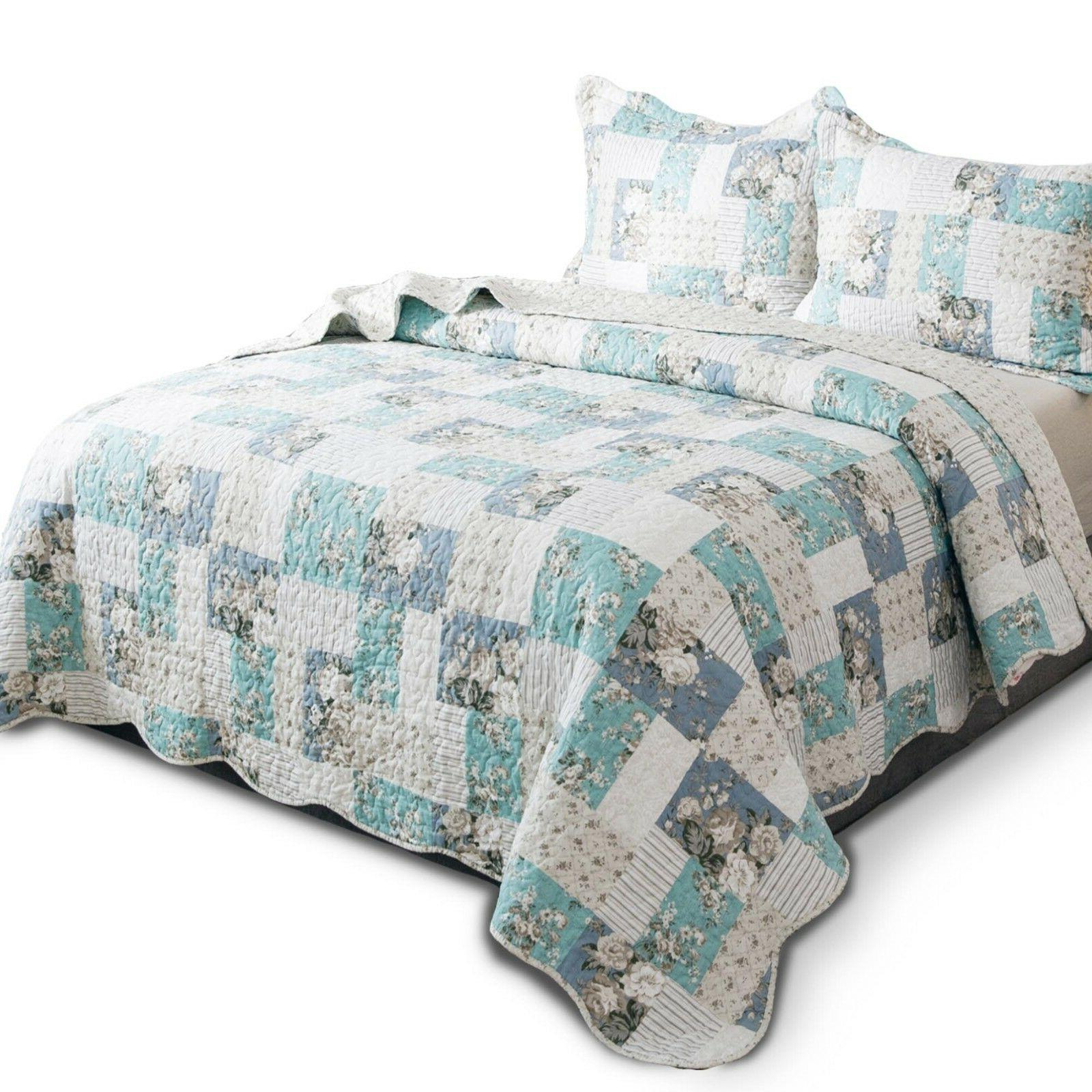 Country Printed Patchwork Printed Bedding Coverlet