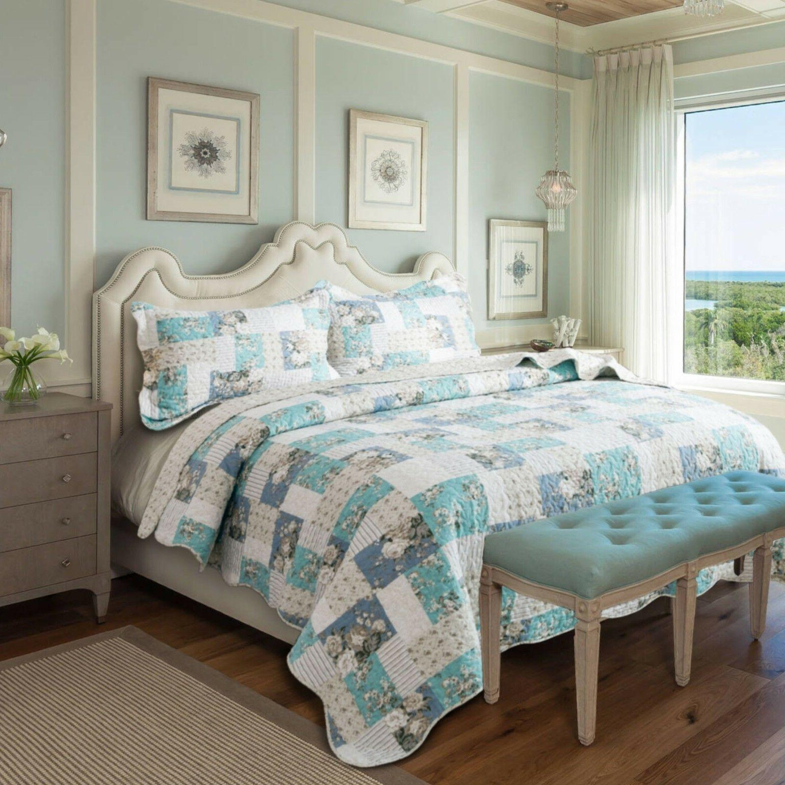 Country Chic Patchwork Bedding Coverlet