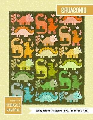 dinosaurs quilt pattern by