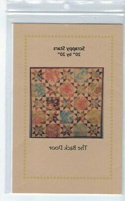 """Scrappy Stars Quilt Pattern by The Back Door, 20"""" by 20"""" - B"""