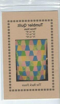 Tumbler Quilt Pattern by The Back Door, Three Sizes - Brand