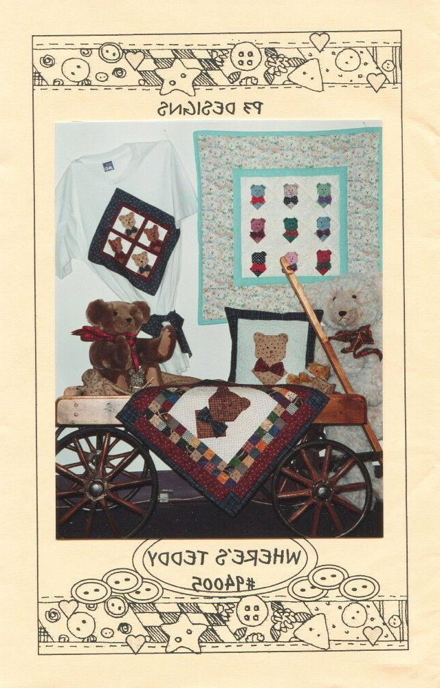 Where's Teddy ~ Quilt Quilting Pattern ~ by P3 Designs 94005