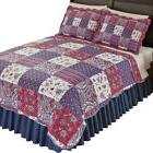 Windsor Floral Paisley Patchwork Quilt with Reversible Flora