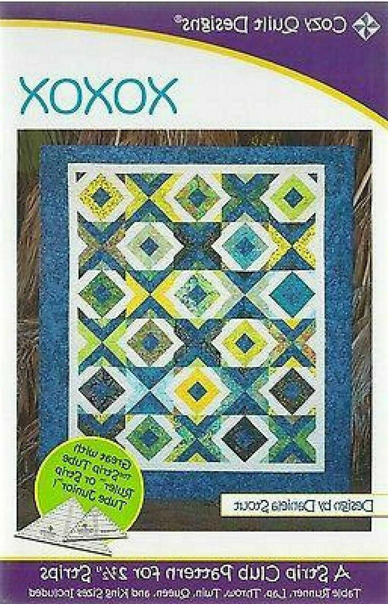 xoxo quilt pattern for 2 5 strips