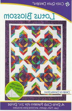 Lotus Blossom Quilt Pattern-Cozy Quilt Designs-Lap-Twin-Quee
