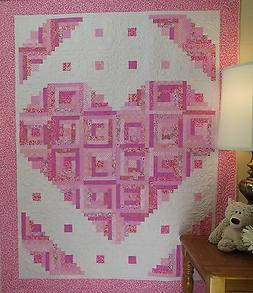 Loving Heart Quilt Pattern ~FAST~VERY EASY~Scraps~ #441 log