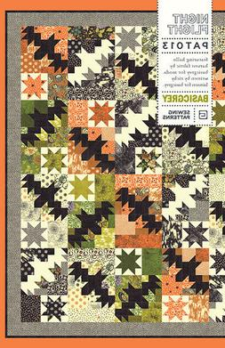 Night Flight ~ BasicGrey Quilt Pattern ~ Halloween bats star