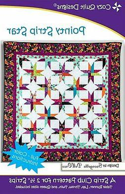 """Pointy Strip Star, a 2 1/2"""" Strip Pattern from Cozy Quilt De"""