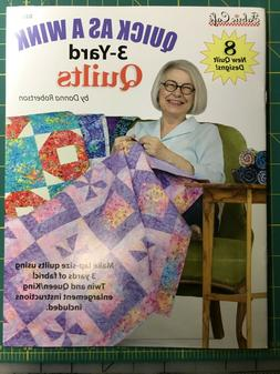 Quick As A Wink 3 Yard Quilts by Donna Robertson for Fabric