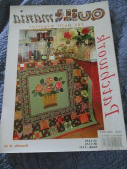 Quilt Mania Magazine Patchwork Issue 53 France, Patterns, VG