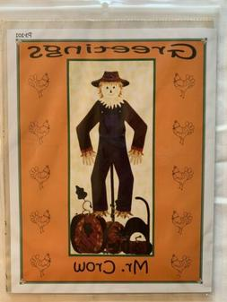 Quilt Pattern Scarecrow GREETINGS MR. CROW WALL HANGING QUIL