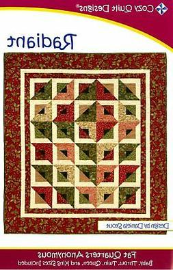 """Radiant, a 2 1/2"""" Strip Pattern from Cozy Quilt Designs # CQ"""
