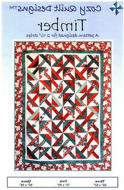 Timber SRR-TIM Quilt Pattern by Cozy Quilt Designs - NEW