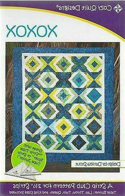 """Cozy Quilt Designs xoxo Quilt Pattern for 2.5"""" Strips -"""